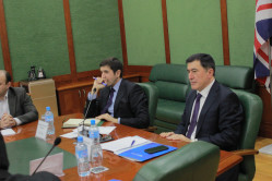 A roundtable at the Westminster International University  in Tashkent